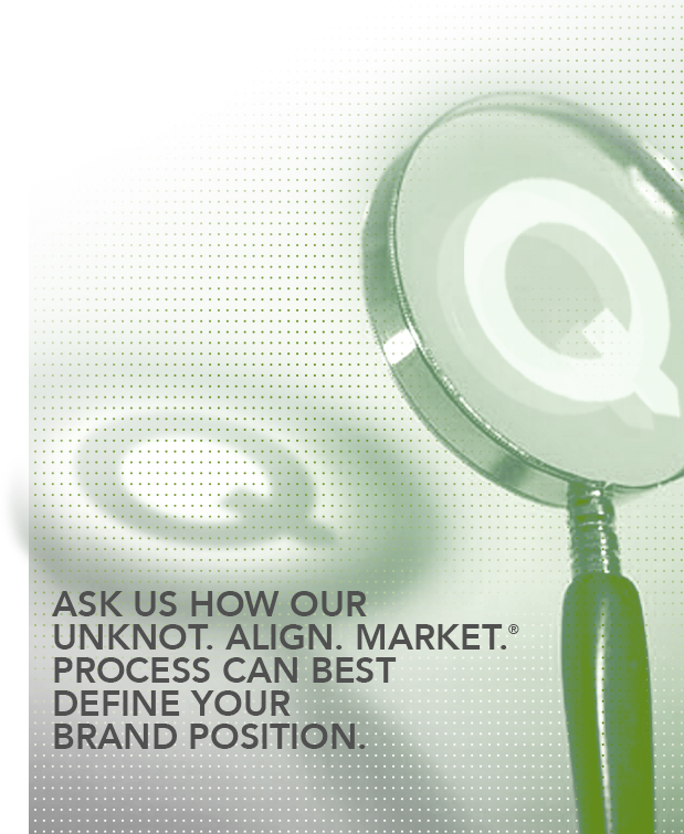 We are a Detroit branding company that uses the Unknot. Align. Market® process to help define your market position.